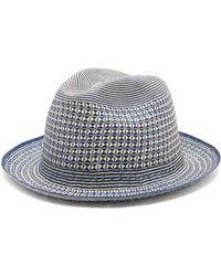 Guanabana - Geometric Straw Panama Hat - Lyst