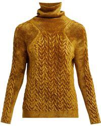 Haider Ackermann - Aralia Chenille Roll-neck Sweater - Lyst