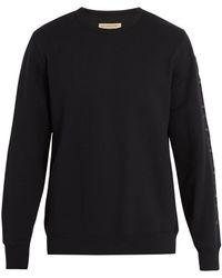 Burberry - Logo-embroidered Sweatshirt - Lyst