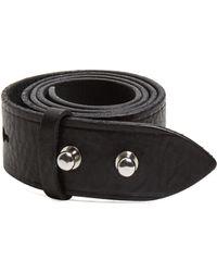 b9eca67aea87 Étoile Isabel Marant Lecce Black Leather Belt in Black - Lyst