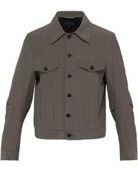 Ann Demeulemeester - Striped Cotton Blend Jacket - Lyst