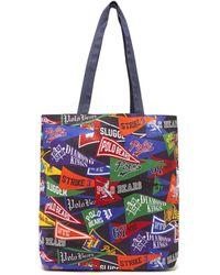 Polo Ralph Lauren - Varsity Flag Print Cotton Canvas Tote Bag - Lyst