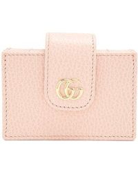 Gucci - Gg Marmont Expandable Leather Cardholder - Lyst