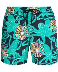 Vilebrequin - Moorea Octopussy And Coquilages-print Swim Shorts - Lyst
