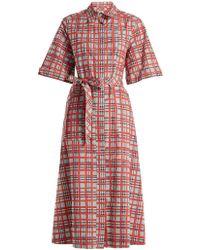 Burberry - Carmen Checked Cotton Shirt Dress - Lyst
