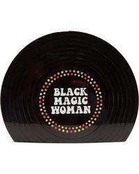Sarah's Bag - Black Magic Woman Perspex Clutch - Lyst