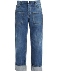 JW Anderson - Pocket-detail Mid-rise Wide-leg Jeans - Lyst