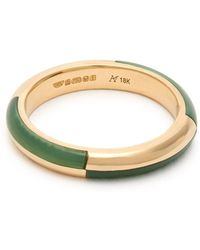 Marc Alary - Deco 18kt Gold & Chrysoprase Ring - Lyst