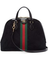 Gucci - Ophidia Gg Suede Tote Bag - Lyst