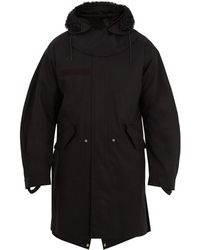 Helmut Lang - Shearling-trimmed Hooded Cotton Parka - Lyst