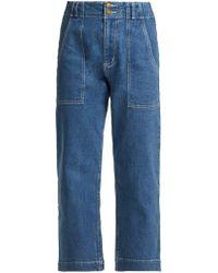 Apiece Apart - Liv Cropped Jeans - Lyst