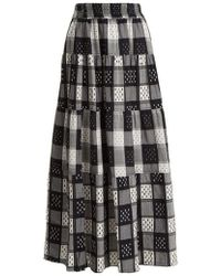 Ace & Jig - Mojave Panelled Checked Cotton Skirt - Lyst