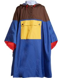 Marni - Colour Block Hooded Poncho - Lyst