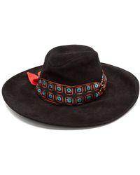 Etro - Ribbon-trim Suede Hat - Lyst