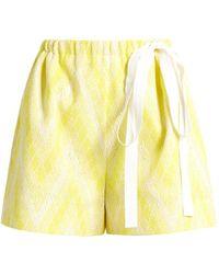 Rochas - Chevron-jacquard Cotton-blend Shorts - Lyst
