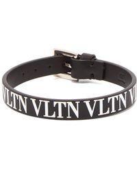 Valentino - Black Garavani Vltn Bracelet - Lyst