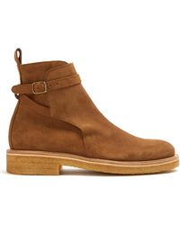 AMI - Suede Ankle Boots - Lyst