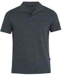 Onia - Shaun Linen-blend Polo Shirt - Lyst