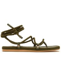 Valentino - Torchon Satin Rope Wraparound Sandals - Lyst