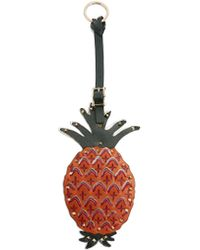 Valentino - Tropical Dream Pineapple Leather Key Fob - Lyst