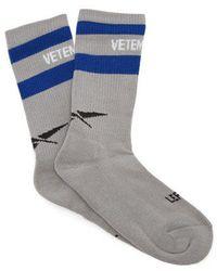 Vetements - X Reebok Logo-intarsia Socks - Lyst
