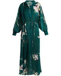 Carine Gilson | Floral-print Silk-satin Kaftan | Lyst