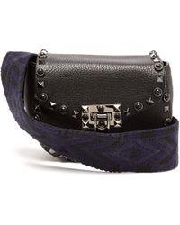 Valentino - Guitar Rockstud Rolling Leather Belt Bag - Lyst