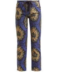 a9669a43021 On sale Isabel Marant - Rupsy Floral Print Cropped Jeans - Lyst