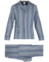 Paul Smith - Striped Cotton Pyjama Set - Lyst