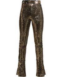 Halpern - High Rise Sequin Embellished Skinny Trousers - Lyst