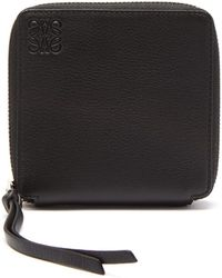 Loewe - Zip Around Leather Wallet - Lyst