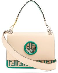 Fendi - Kan I Logo Leather Shoulder Bag - Lyst