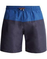 Stella McCartney - Mid Rise Panelled Swim Shorts - Lyst