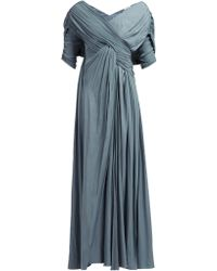 Lanvin - Gathered Voile Gown - Lyst