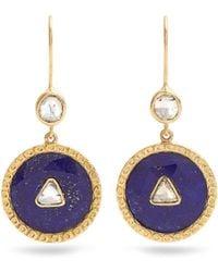 Jade Jagger | Diamond, Lapis & Yellow-gold Earrings | Lyst