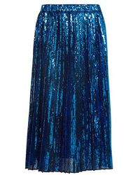 N°21 - Sequin-embellished Pleated Skirt - Lyst