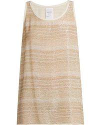 Ashish - Bead-embellished Silk-georgette Sleeveless Top - Lyst