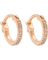 Ileana Makri - Diamond & Rose Gold Earrings - Lyst