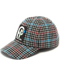Prada - Wool Tweed Logo Baseball Cap - Lyst