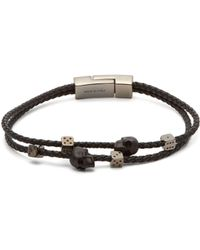 Alexander McQueen - Skull And Dice Leather Bracelet - Lyst