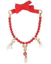 Valentino - Skull-pendant Beaded Necklace - Lyst