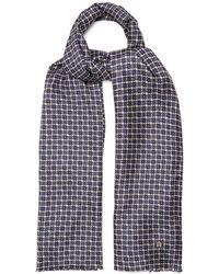 Dunhill - Geometric-print Silk-blend Scarf - Lyst