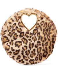 Shrimps - Martini Leopard Print Faux Fur Clutch - Lyst