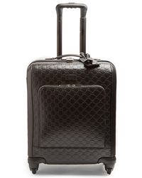 Gucci   Logo-debossed Leather Suitcase   Lyst