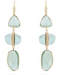 Jacquie Aiche | Diamond, Florite & Yellow-gold Earrings | Lyst