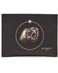 Givenchy - Monkey Brothers-print Leather Cardholder - Lyst