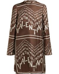 Valentino - Printed Silk-twill Dress - Lyst