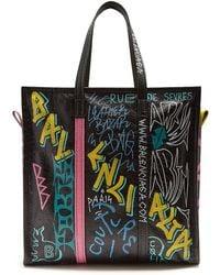 Balenciaga - Bazar Shopper M Graffiti - Lyst