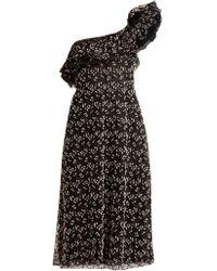 Giambattista Valli - Ruffled One-shoulder Dress - Lyst