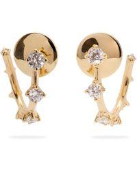 Fernando Jorge - Sequence 18kt Gold And Diamond Hoop Earrings - Lyst
